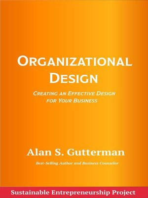 cover image of Organizational Design