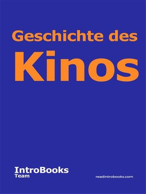 cover image of Geschichte des Kinos