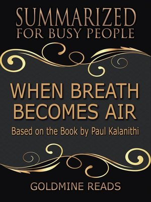 cover image of When Breath Becomes Air--Summarized for Busy People