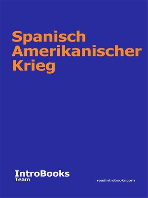 cover image of Spanisch Amerikanischer Krieg