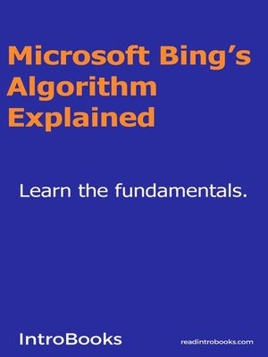 cover image of Microsoft Bing's Algorithm Explained