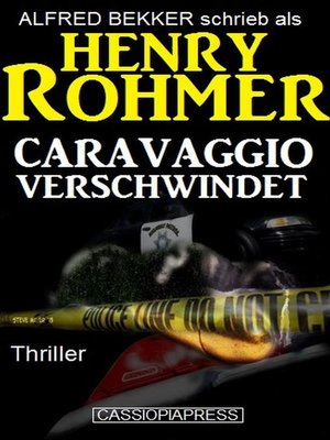 cover image of Caravaggio verschwindet