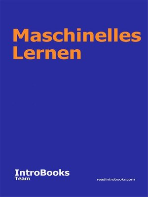 cover image of Maschinelles Lernen