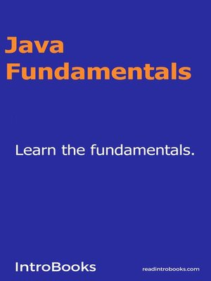 cover image of Java Fundamentals