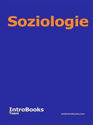 cover image of Soziologie