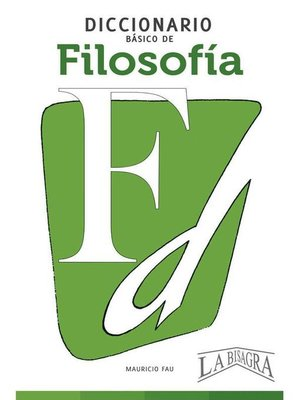 cover image of Diccionario Básico de Filosofía