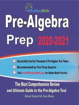cover image of Pre-Algebra Prep 2020-2021