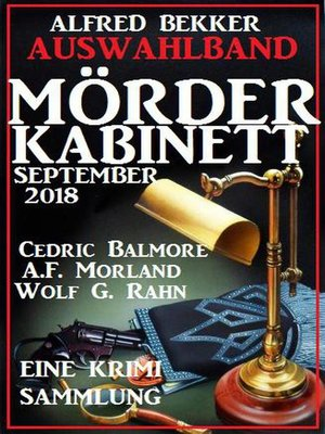 cover image of Auswahlband Mörder-Kabinett September 2018