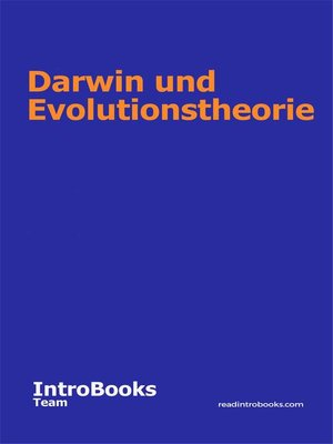 cover image of Darwin und Evolutionstheorie