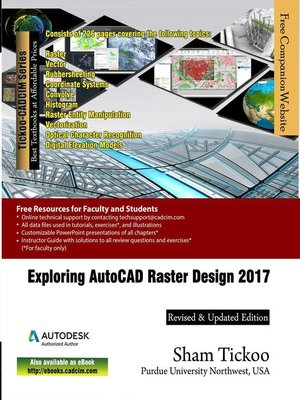 cover image of Exploring AutoCAD Raster Design 2017