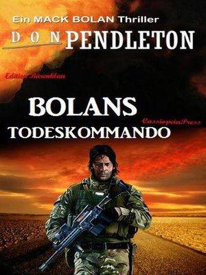 cover image of Bolans Todeskommando