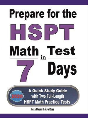 cover image of Prepare for the HSPT Math Test in 7 Days