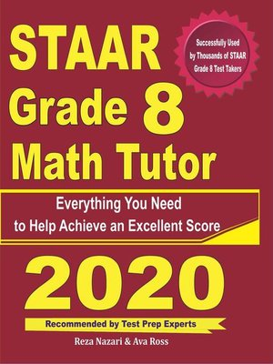 cover image of STAAR Grade 8 Math Tutor