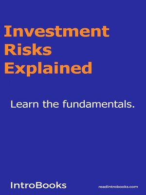 cover image of Investment Risks Explained