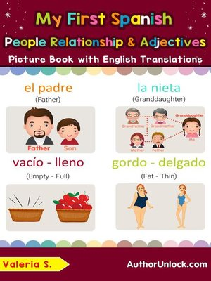 cover image of My First Spanish People, Relationships & Adjectives Picture Book with English Translations