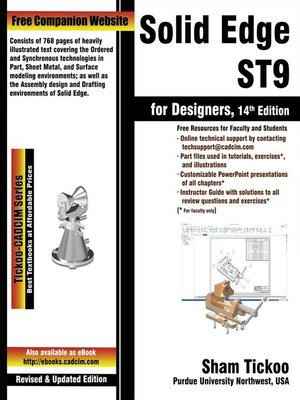cover image of Solid Edge ST9 for Designers, 1