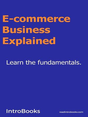cover image of E-commerce Business Explained