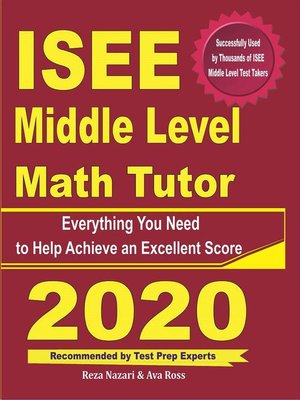 cover image of ISEE Middle Level Math Tutor