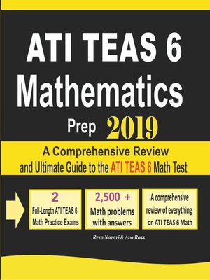 cover image of ATI TEAS 6 Mathematics Prep 2019
