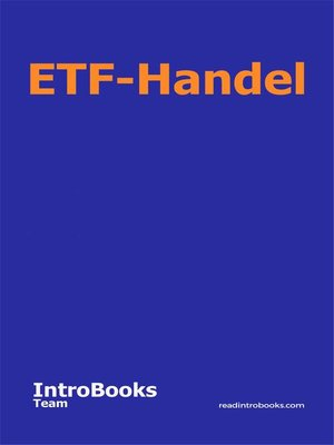 cover image of ETF-Handel