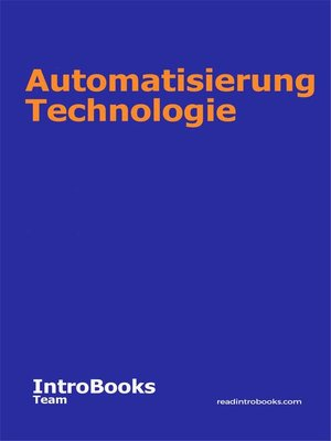 cover image of Automatisierung Technologie