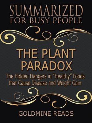 cover image of The Plant Paradox--Summarized for Busy People
