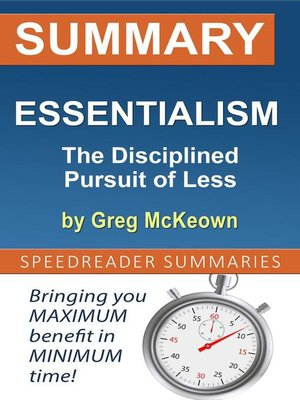 cover image of Summary of Essentialism