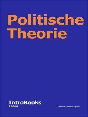 cover image of Politische Theorie
