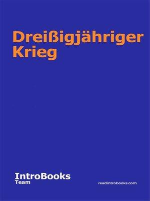 cover image of Dreißigjähriger Krieg