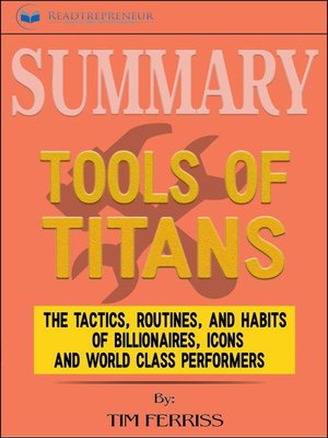cover image of Summary of Tools of Titans