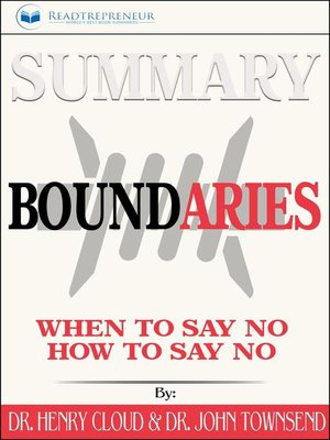 cover image of Summary of Boundaries