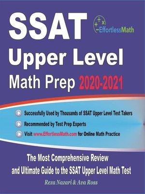 cover image of SSAT Upper Level Math Prep 2020-2021