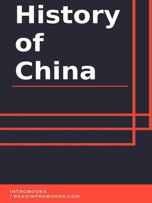 cover image of History of China