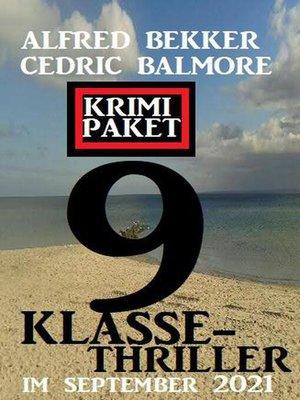 cover image of 9 Klasse-Thriller im September 2021