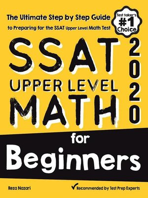 cover image of SSAT Upper Level Math for Beginners