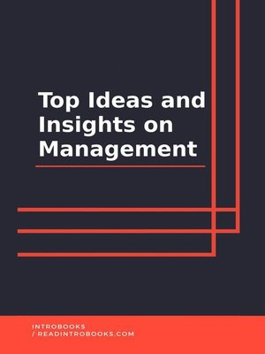 cover image of Top Ideas and Insights on Management