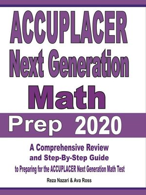 cover image of ACCUPLACER Next Generation Math Prep 2020