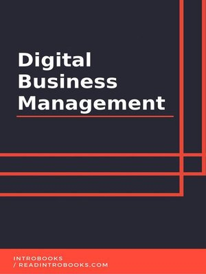 cover image of Digital Business Management