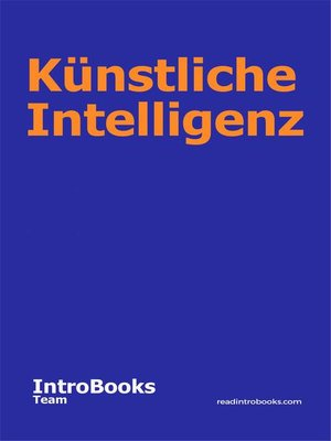 cover image of Künstliche Intelligenz