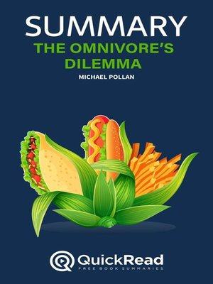 """cover image of Summary of """"The Omnivore's Dilemma"""" by Michael Pollan"""