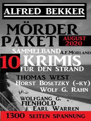 cover image of Mörder-Paket August 2020