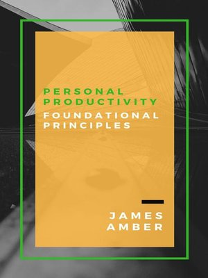 cover image of Personal Productivity