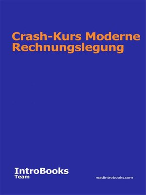 cover image of Crash-Kurs Moderne Rechnungslegung