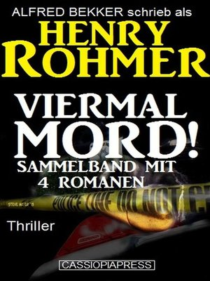 cover image of Viermal Mord! Thriller