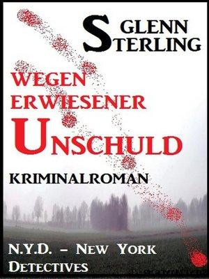 cover image of Wegen erwiesener Unschuld