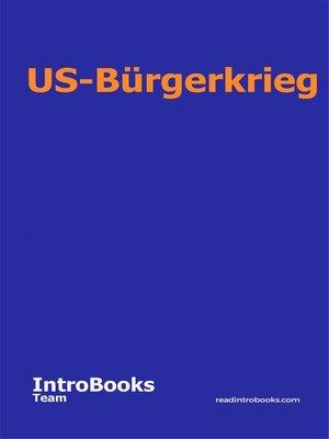 cover image of US-Bürgerkrieg