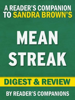 cover image of Mean Streak by Sandra Brown | Digest & Review