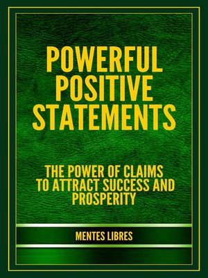cover image of Powerful Positive Statements