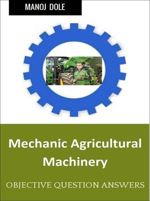 cover image of Mechanic Agricultural Machinery