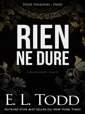 cover image of Rien ne dure